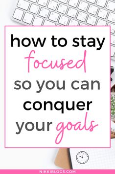 Learn how to stay focused while studying, at work, and on your goals! Boost concentration and productivity with tips to get it all done on the daily. We'll cover how attitude and environment impact your ability to be creative and retain new information. These 10 tips for how to improve your focus are everything you need to start building new habits today! #productivity #timemanagement #studytips #stayfocused #productivitytips Business Motivational Quotes, Business Quotes, Business Tips, Business Coaching, Online Business, Focus On Your Goals, Focus On Yourself, Improve Yourself, Activities For Adults