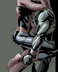 SpideyPool Marvel Comic Universe, Marvel Dc Comics, Marvel Cinematic Universe, Marvel Avengers, Spideypool Comic, Superfamily, Yaoi Hard Manga, Spaider Man, Deadpool X Spiderman