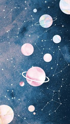 wallpaper pastel Wallpaper Zodaco e Planetas by Gocase space wallpaper