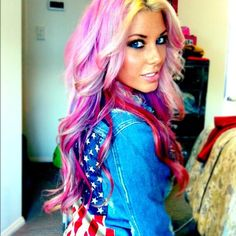 If I ever go crazy on my hair I want it to look like this