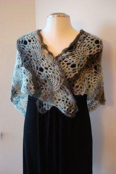 Triangular Shawl Wrap Crocheted Shawl by ArtfullyWrapped on Etsy Crochet Cape, Crochet Scarves, Crochet Shawl, Pineapple Crochet, Pineapple Pattern, Warm Fuzzies, Capes, Shawls, Ruffle Blouse