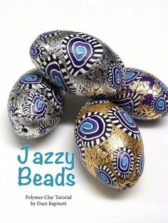 """Make Dani Rapinett's """"Jazzy"""" polymer clay and metallic leaf beads in our latest issue - get it here: http://www.joomag.com/magazine/digital-beading-magazine-issue-11/0912822001408173490"""