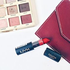 """New blog post about this gorgeous brick shade being the """"new berry red"""" featuring @nyxcosmetics """"Alabama"""".  (Link in bio.)"""