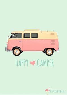 Download miniposter Happy Camper! lukt niet na aanmelden,