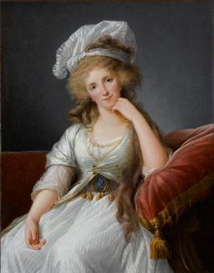 The Athenaeum -  Luisa Maria Adelaida de Bourbon Élisabeth Vigée-Lebrun - Date unknown Château de Versailles (France) Painting - oil on canvas