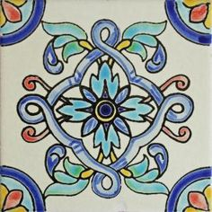 Bring the look of colonial Mexico into the spaces of your home with these gorgeous hand-painted matte tiles!  The smooth matte finish will add an eye catching element to kitchens and baths. Hand-painted tiles are also perfect for covering the risers on a staircase or the walls of a patio. Left-over tiles make excellent coasters and trivets. Made in Mexico.