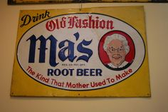 Old Fashion MAs Root Beer Sign Antique Vintage Soda Country Store Advertising | eBay