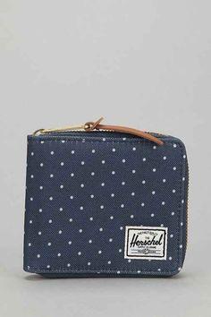 Herschel Supply Co. Walt Full-Zip Polka Dot Wallet