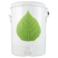 Green Aspen Leaf #11 Cooler - spring gifts beautiful diy spring time new year