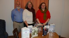Bixby Memorial Free Library (Vergennes, Vermont) participated in the reading of King's Letter. Pictured are the three readers: Steve Lowe, Dianne Lawson, Claire Lawson.