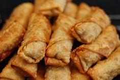 The Planner and The Procrastinator: Grandma's egg rolls with a twist - Judy Bronson - Filipino desserts Lamb Recipes, Asian Recipes, Snack Recipes, Cooking Recipes, Snacks, Korean Egg Roll, Scones, My Favorite Food, Favorite Recipes