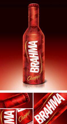 Brahma on Packaging of the World - Creative Package Design Gallery Beer Bottle, Whiskey Bottle, Vodka Bottle, Beverage Packaging, Brand Packaging, Beer Packaging, Beer Factory, Packaging Design Inspiration, Drink Bottles