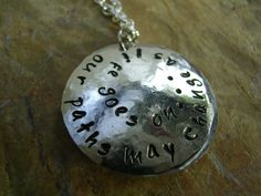 Shop for on Etsy, the place to express your creativity through the buying and selling of handmade and vintage goods. Locket Necklace, Pendant Necklace, Best Friends Sister, Handmade Necklaces, Handmade Gifts, Jewelry Showcases, Hand Stamped Jewelry, Metal Stamping, Unique Jewelry