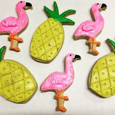 Flamingo and Pineapple decorated butter by DeliciousDesignsReno