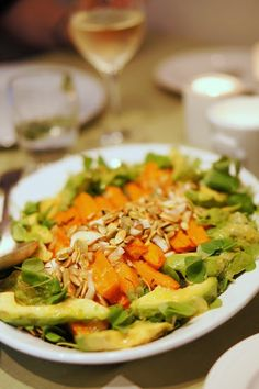 Carrot and avocado salad, #salad, #carrot