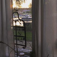 部屋から見える夕日#porvoo #finland