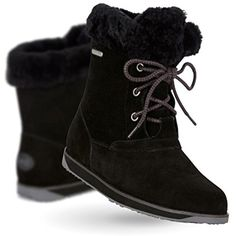 Shaw Lo Womens Waterproof Sheepskin Boots in Black -- Visit the image link more details. (This is an affiliate link and I receive a commission for the sales) #MidCalf