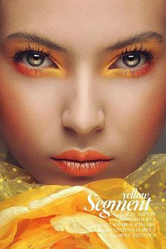 Orange Tangerine Yellow eyeshadow and lipstick make up. Monochromatically Striking Portraits - The Tao of Wu Fault Magazine Series Celebrates Ethnic Beauty Makeup Art, Beauty Makeup, Eye Makeup, Hair Makeup, Makeup Style, Monochromatic Makeup, Kreative Portraits, Foto Fashion, Style Fashion
