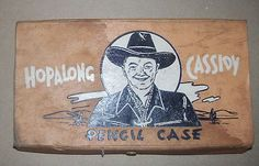 Vintage 1940's Hopalong Cassidy Pencil Case and Photographs