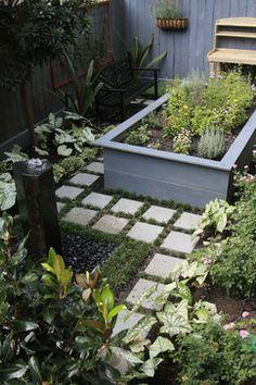 Secluded Bellaire Garden Landscape eclectic landscape