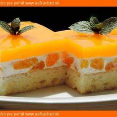 Mandarinka Darinka (osviežujúci bozk) - Sefkuchari.sk Cheesecake, Pudding, Desserts, Tailgate Desserts, Deserts, Cheese Pies, Puddings, Cheesecakes, Dessert