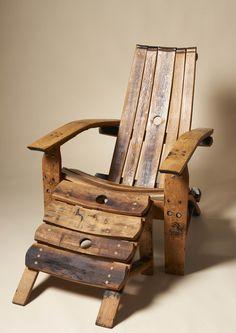 Oak cask chair