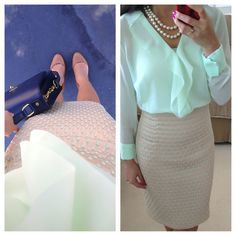 Daily Work Outfits 4 - Very classy and elegantly fluid. Really need to get more skirts.