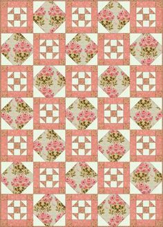 Free Quilt Patterns for Beginning to Experienced Quilters: Philadelphia Pavement Quilt Block and Quilt Pattern