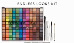 e.l.f. Endless Look Kit instead of $21 GET IT FREE with code ENDLESS on orders $25  Set includes: Studio 144 Piece Palette in Brights Studio Blending Brush Essential Volumizing & Defining Mascara Essential Brightening Eyeliner in Black
