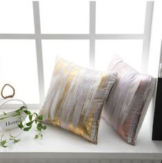 This shiny texture of Velvet Foil Print Pillow Cover is created with a subtly metallic painted brush effect and provides a quality and affordable solution to updating your home's decor. Floral Throws, Floral Throw Pillows, Metallic Prints, Pillow Fabric, Fabric Textures, Warm Colors, Pillow Covers, Creations, Velvet