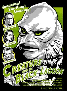 Creature+From+The+Black+Lagoon+Original+Poster+by+namtab29+on+Etsy,+$20.00