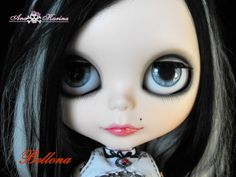 New Soft Resin OOAK REALISTIC custom Blythe eye chips set E13, by Ana Karina. UV…