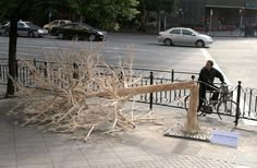 China Environmental Protection Foundation  : Chopstick Tree  割り箸のせいで、木が倒されている。
