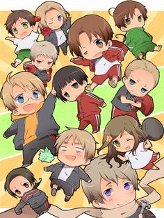 Hetalia Chibi Explosion for everyone, grab one while you can. * grabs America  chibi and runs away*