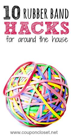 Here are 10 clever Rubber Band Hacks You Never Thought Of that will help around the house. Number 5 is my favorite!