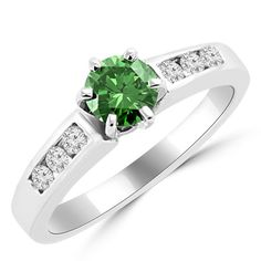 Jewelry Point - 0.55ct Fancy-Green Diamond Engagement Ring Channel-Set, $895.00 (http://www.jewelrypoint.com/0-55ct-fancy-green-diamond-engagement-ring-channel-set/)