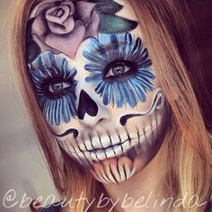 Sugar skull sfx makeup