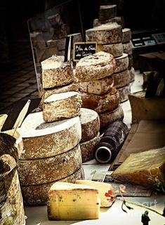Cheeses On The Market In France