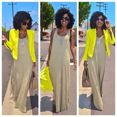 Todays Post: Neon + Neutrals my-style I Love Fashion, Modest Fashion, Fashion Outfits, Mode Pro, Summer Outfits, Cute Outfits, Style Pantry, Estilo Fashion, Swagg