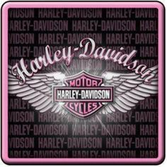 Pink Harley Davidson shield..So obsessed with this pink Harley Davidson stuff(:<3