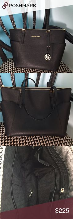 Michael Kors Jet Set Leather Tote Only used once & great condition Michael Kors Bags Totes