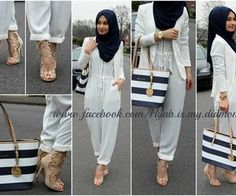 """Find and save images from the """"hijab casual/jeans ♥"""" collection by Rahma (rahma_ben) on We Heart It, your everyday app to get lost in what you love. Hijab Fashion Summer, Street Hijab Fashion, Modest Fashion, Hijab Gown, Hijab Wear, Islamic Fashion, Muslim Fashion, Fast Fashion, Work Fashion"""