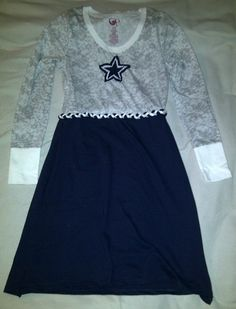 Long Sleeved Custom Game Day TShirt Dress by GameDayStyle on Etsy, $30.00