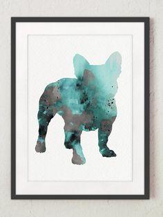 Bulldog Francés Perro en palabras Plantillas Para Grabado En Vidrio presente Frenchie Bull