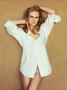 We shared Nicole Kidman striking images in a white shirt from The Hollywood Reporter magazine. Keith Urban, Nicole Kidman, Nia Long, Liv Tyler, The Hollywood Reporter, White Shirts, Natalie Portman, Sensual, Beautiful Actresses
