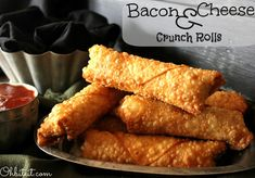 Bacon and Cheese crunch rolls. I'll substitute the bacon with smoked beef.