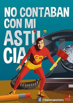 Poster del Chapulin Colorado! de venta en facebook.com/chusmaposters