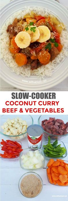 Love a good curry ! Check out this easy, dump and go Slow-Cooker recipe ! #SlowCooker #Curry #ComfortFood