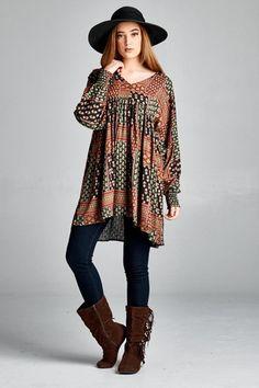 Перегорнути сторінку плаття - Brown Mix