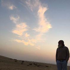 No deserto de Abu Dhabi. A caminho das Indias.